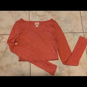 Long sleeve Target Mossimo Shirt coral pink small